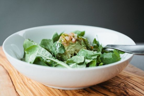 avocado salad with warm jalapeno vinaigrette