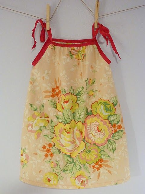 Aww, this is so cute-a pillowcase dress. Blog post refers to this tutorial: littlebiggirlstud...