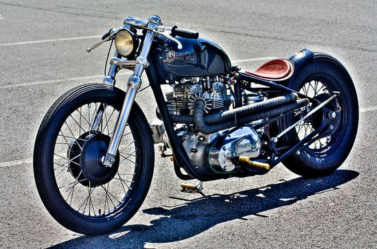 Nasty Vintage Triumph Motorcycle. Would love to ride a motorcycle again...