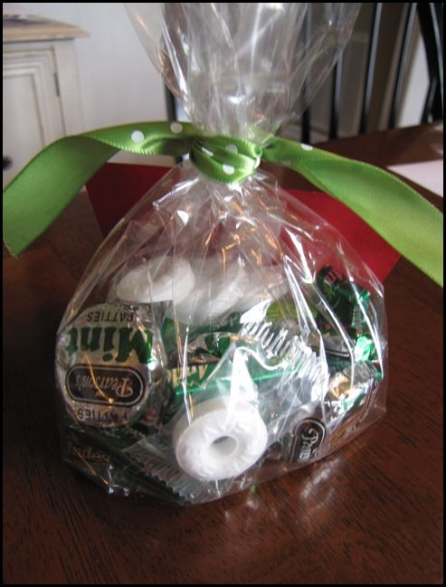 """""""Mint Bag."""" Thanks for your commit-""""mint"""" to help. Thanks for your encourage-""""mint"""". Thanks for your involve-""""mint"""". Thanks for your invest-""""mint"""" of time. Thanks for making each day an enjoy-""""mint"""". Thanks for helping to create a nice environ-""""mint"""". Everything you have done has really """"mint"""" a lot to me."""