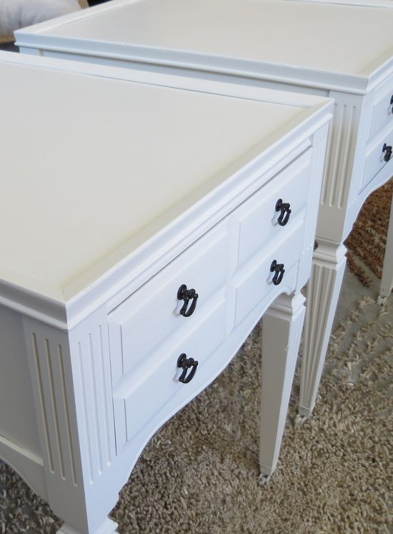 End table redo w before and after pictures.  Other furniture makeovers here also
