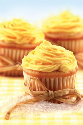 Apple Cider Cupcakes with Butter Filling and Caramel Frosting