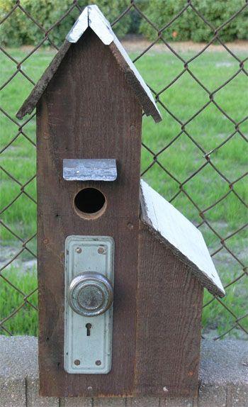 Doorknob birdhouse