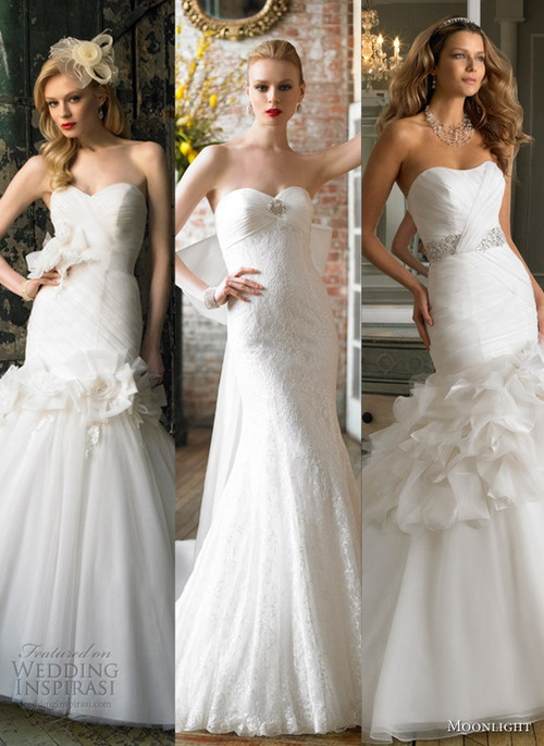 Our top 3 picks from Moonlight Collection Fall 2012 Wedding Dresses.
