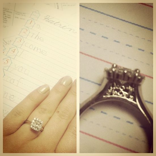 Engagement ring designed with her future monogram! Oh my gosh yes!