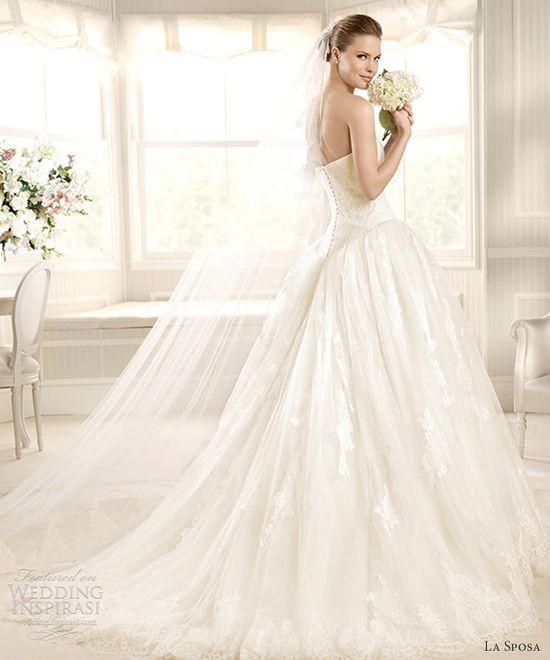 la sposa wedding dresses 2013 costura bridal medalla strapless ball gown