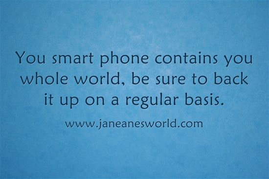 Back Up Your Smart Phone