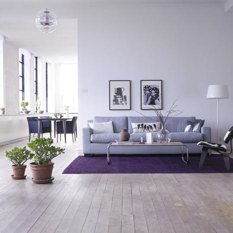 Te gusta el morado decorar tu casa es - Combinaciones con gris ...