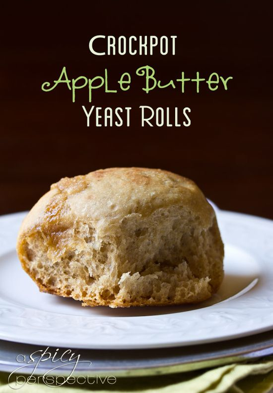 Crockpot Apple Butter Yeast Rolls