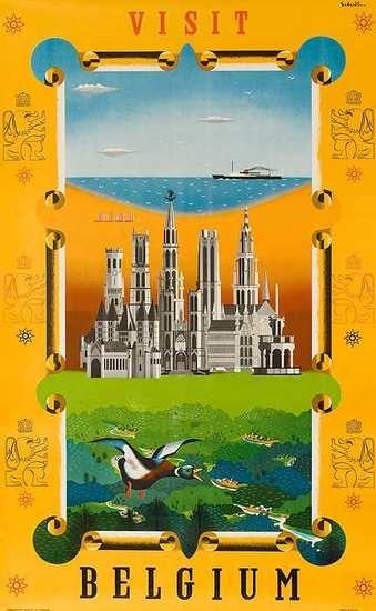 Belgium #vintage #travel #poster