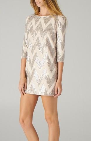 sequined chevron dress