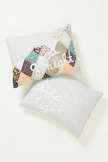 guest room pillow from anthropology
