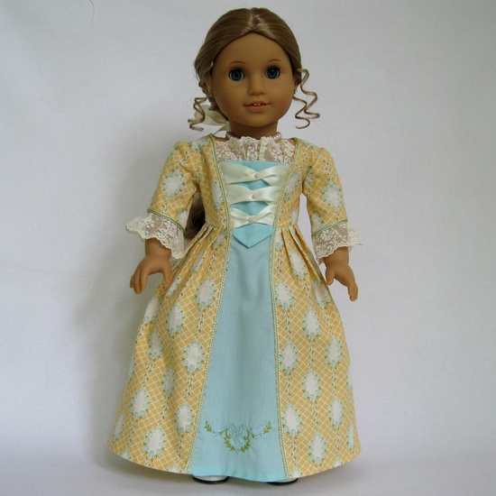 American Girl Doll Clothes Colonial Gown. $27.00, via Etsy.