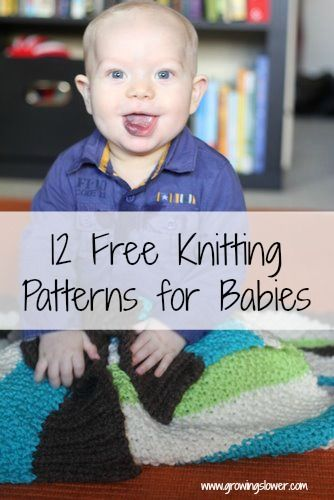 12 Free Knitting Patterns for Babies including easy baby hats, cardigans, vests,