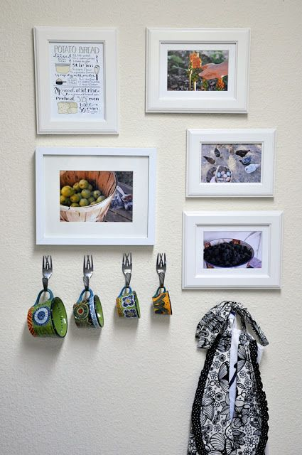 Love the idea with the forks for hooks....would be great to hang about the sink.... for mugs, plaques, or whatever!!!