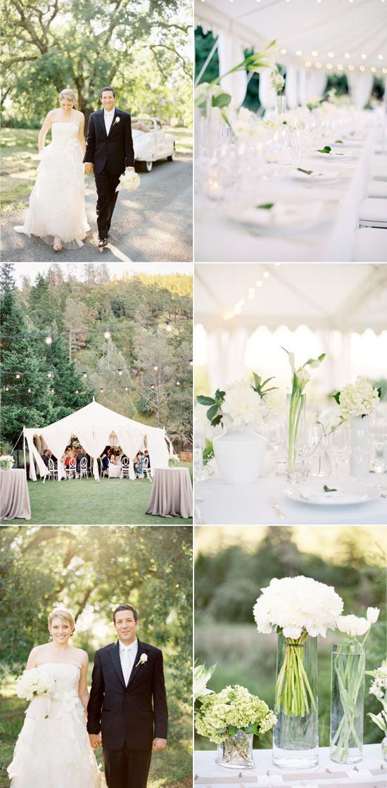 Dream. Wedding. I am in love with the all-white theme with the crispness of the green.