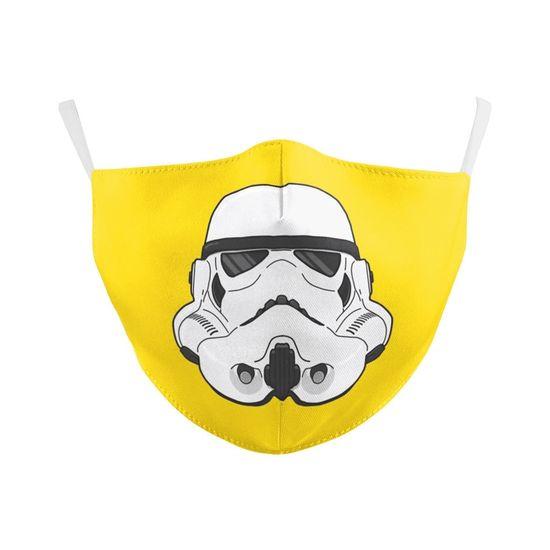 Des masques tendances pour les nombreux fans de la saga de la Guerre des Etoiles. Disponible en 2 tailles (adulte ou enfant), chaque modèle lavable et réutilisable est livré avec 2 filtres à particules fines (PM25)