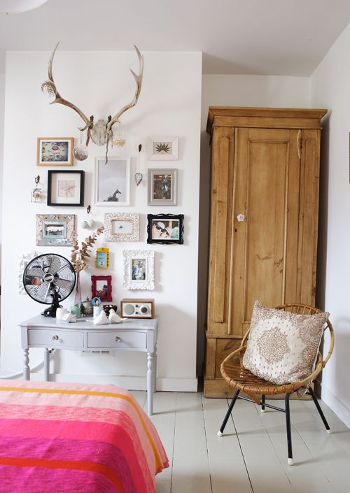 bedroom- those antlers!