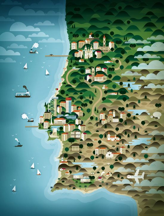 Impressive Map Illustrations By KHUAN+KTRON