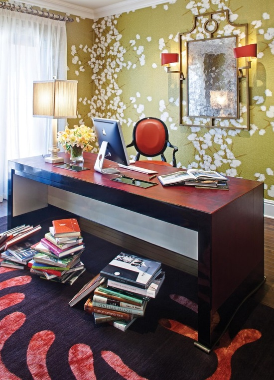Eclectic contemporary home office