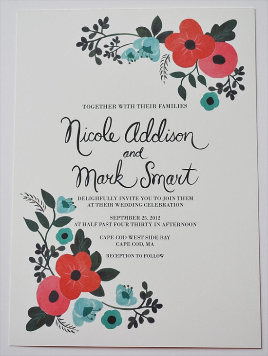 Vintage Floral Wedding Invitation Custom by LOFTLIFEPRESS on Etsy, $260.00