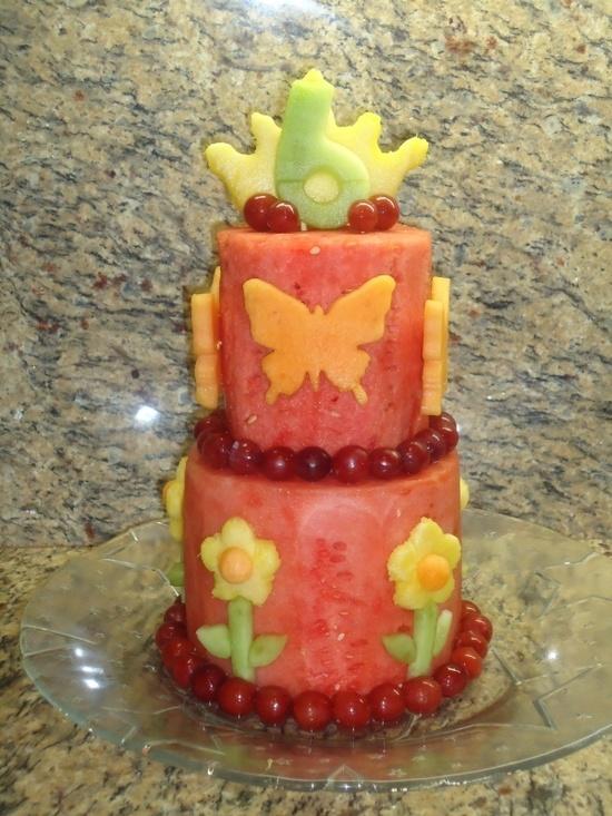 """layered """"fruit"""" cake"""