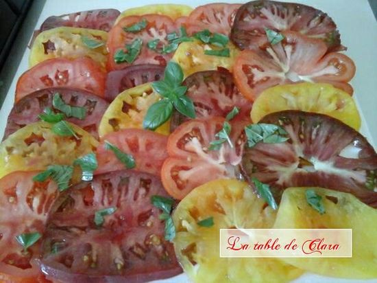 Salade aux 3 tomates