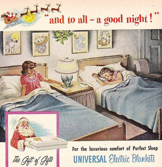 Universal Electric Blankets Ad 1952