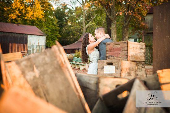 Farm crates, wedding photos