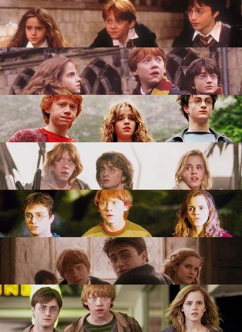 Emma Watson, Daniel Radcliffe, Rupert Grint.