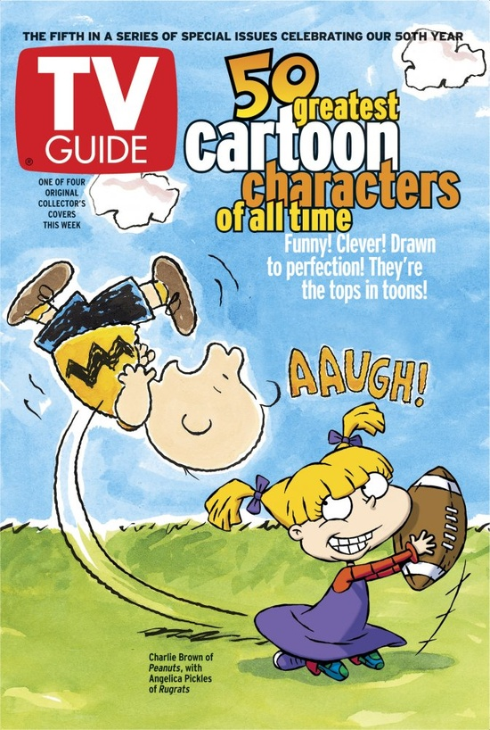 TV's 50 Greatest Cartoon Characters of All Time, featuring Charlie Brown