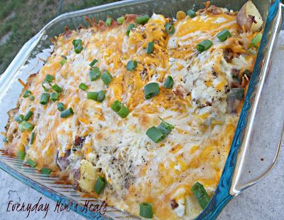 ~Twice Baked Potato Casserole~ All the great flavors from the original in an easy to make casserole.
