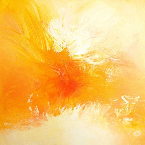 www.GraphicDesign... sunshine yellow abstract art