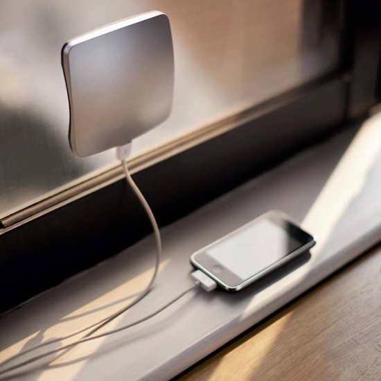 Solar powered iPhone charger! Nice!!