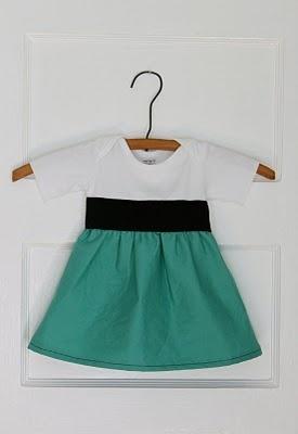 Baby Onsie into a dress #diy #tutorial