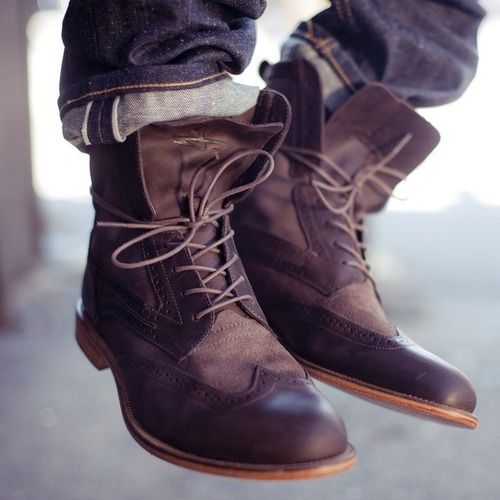 Leather Boots Men's
