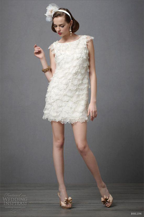 bhldn 2012 short wedding dress