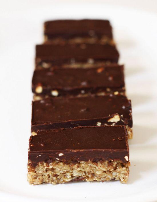 oatmeal dark chocolate peanut butter bars