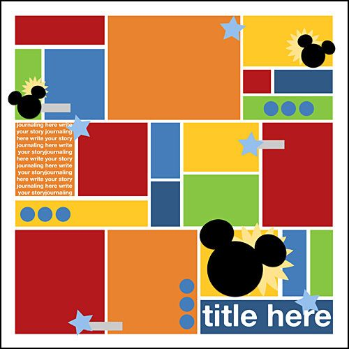 #papercraft #scrapbook #layout #Disney Scrapbooking