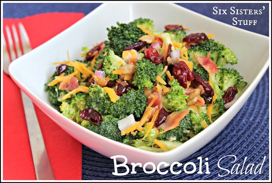 Easy and Delicious Broccoli Salad from Sixsistersstuff.com #salad #recipe