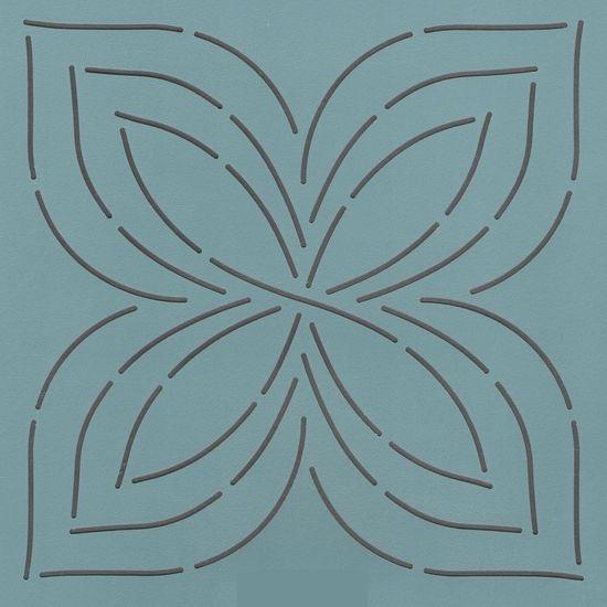 "Triple Pinwheel 7"" - The Stencil Company"