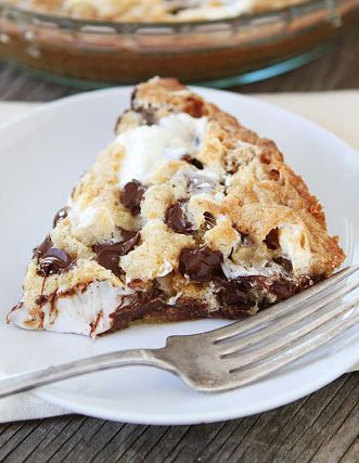 S'mores Pie OMG I'm a sucker for anything s'mores! Especially made with Hershey's! S'mores are not Smores UNLESS they contain a Hershey Candy Bar!