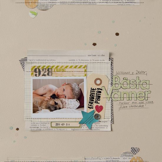 scrapbook layout page