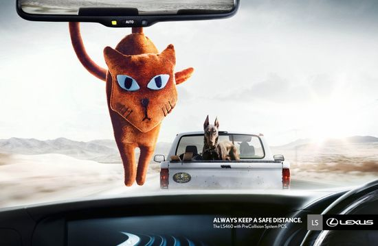 Have the pleasure to drive one;  Lexus: Always keep a safe Distance #Advertising