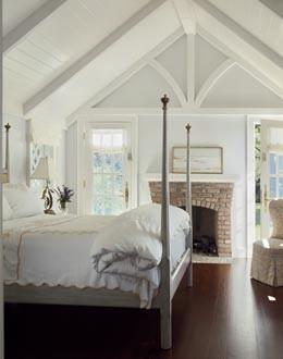 airy attic, wood ceiling
