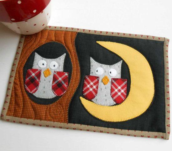 Night Owls Mug Rug P