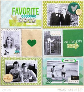 #papercraft #scrapbook #layout #ProjectLife -     End of Album 1 by debduty at @Studio_Calico #SCantiquary