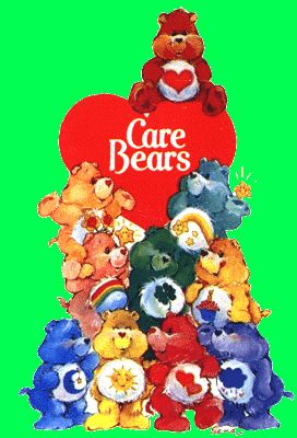 Care Bears!  I was never really into them, but they were EVERYWHERE...