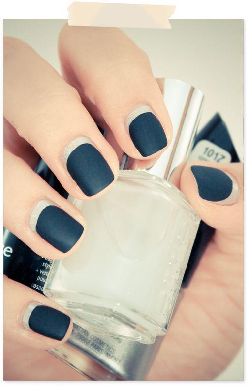 Black & silver ruffian #pretty #sexy #nail #polis #tip #beauty