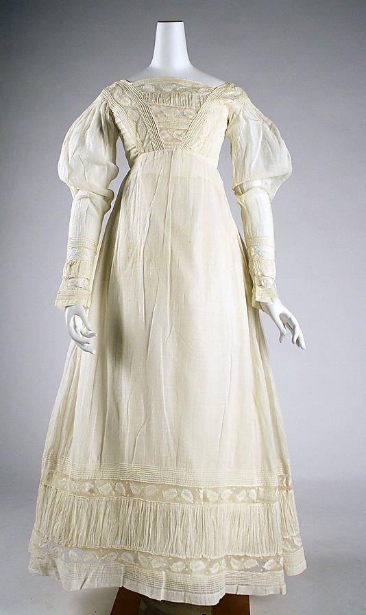 Cotton dress - c1820
